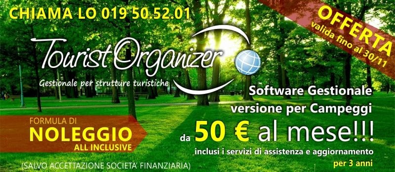 Software per Campeggi All Inclusive 50 € al mese!