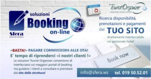 Modulo di booking online con channel manager di tourist organizer