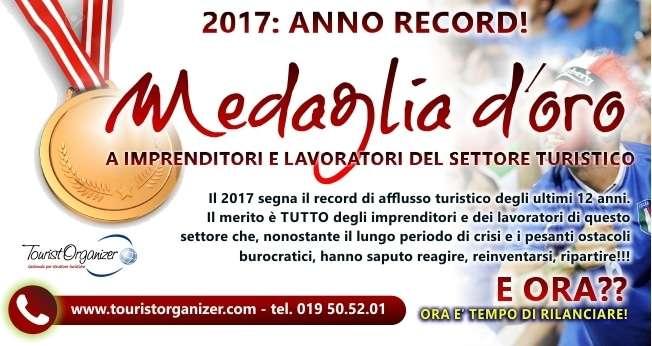 2017: MEDAGLIA D'ORO AL TURISMO!